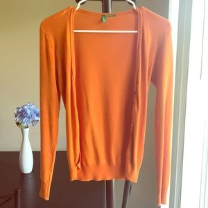 United Colors of Benetton Orange Cardigan